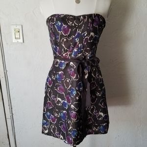 American Eagle outfitters floral strapless dress
